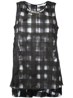 полупрозрачная блузка прямого кроя Blugirl
