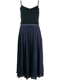 плиссированное платье с контрастными панелями Victoria Victoria Beckham