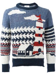 свитер с принтом маяка Thom Browne
