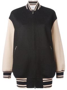 куртка-бомбер  с контрастными рукавами Valentino