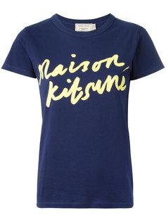 handwritten print T-shirt  Maison Kitsuné