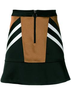 атласная мини-юбка с панельным дизайном Neil Barrett