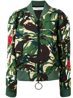 camouflage bomber jacket Off-White