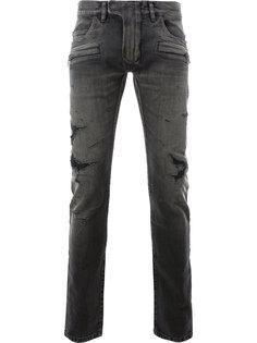 джинсы кроя скинни с потертой отделкой Balmain