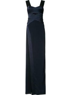 cut-out chest maxi dress Galvan