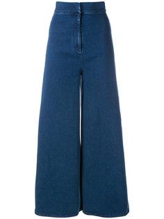 wide leg cropped jeans Sara Battaglia