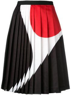 плиссированное платье с геометрическим принтом Neil Barrett