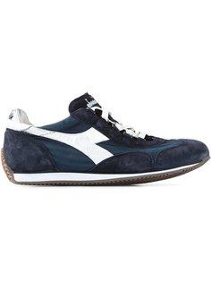кроссовки на шнуровке с панелями Diadora