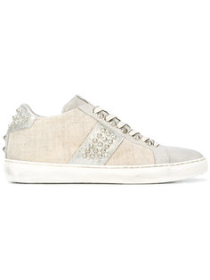studded sneakers Leather Crown