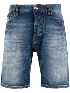 джинсовые шорты с логотипом Philipp Plein