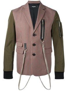 куртка-бомбер с имитацией пиджака Dsquared2