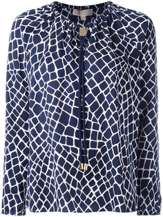 блузка с рисунком и завязками у шеи Michael Michael Kors