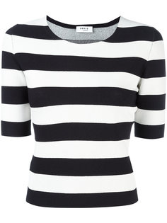 fitted breton stripe top Akris Punto