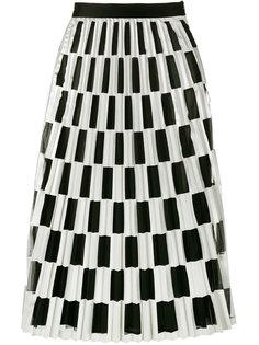 плиссированная юбка в клетку Off-White
