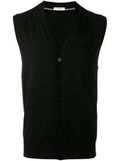 sleeveless v-neck cardigan Paolo Pecora