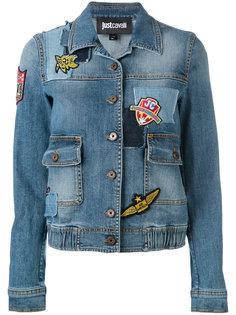 джинсовая куртка с вышивкой Just Cavalli