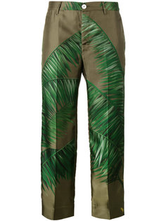 tropical palm print trousers F.R.S For Restless Sleepers