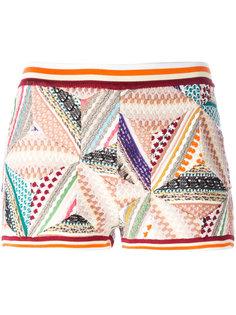 трикотажные шорты в стиле пэчворк Missoni