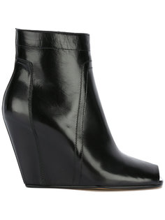 open-toe wedge ankle boots Rick Owens