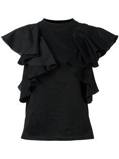 футболка с оборками Facetasm