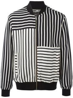 куртка-бомбер в полоску McQ Alexander McQueen
