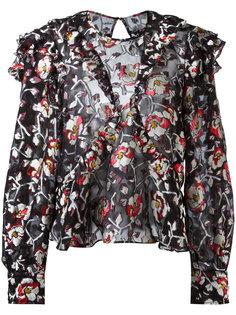 блузка с вышитыми розами Isabel Marant
