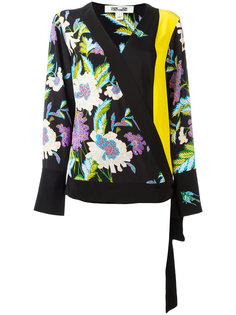 floral print wrap blouse  Diane Von Furstenberg