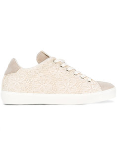 floral lace sneakers Leather Crown