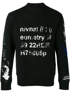 faded stamp print sweatshirt Lanvin