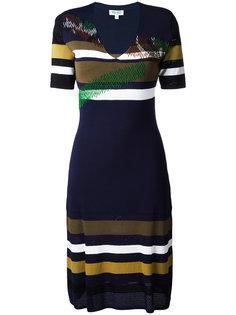полосатое платье  Kenzo
