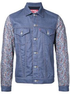 куртка с абстрактным принтом на рукавах Junya Watanabe Comme Des Garçons Man
