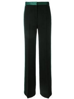 satin-trim wide-leg pants Victoria Victoria Beckham