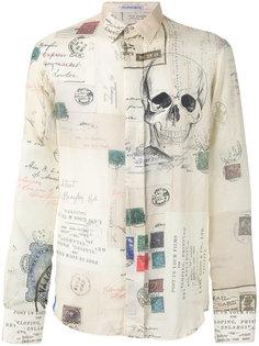 рубашка с рисунком Alexander McQueen