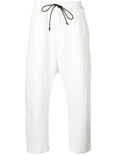 drawstring cropped tapered trousers Isabel Benenato