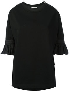 футболка со складками на манжетах Moncler