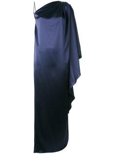драпированное платье на одно плечо Gianluca Capannolo