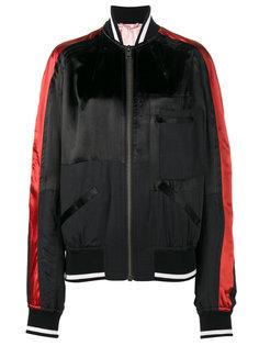 куртка-бомбер с контрастными рукавами  Haider Ackermann