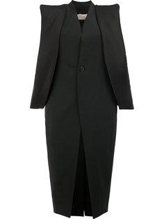 пальто с структурированными проймами Rick Owens