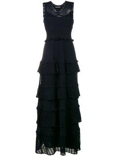 многоярусное платье без рукавов Alberta Ferretti