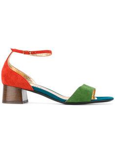 tri-colour open toe sandals Michel Vivien