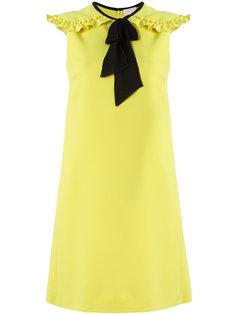 платье с контрастными завязками Giamba