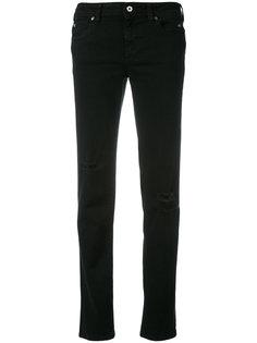 прямые джинсы с потертостями Just Cavalli