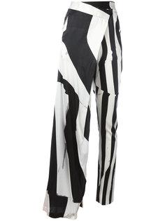 асимметричные брюки с комбинированным принтом Ann Demeulemeester