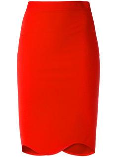юбка с волнистым подолом  Givenchy