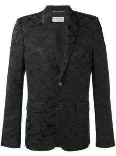пиджак с камуфляжным принтом Saint Laurent