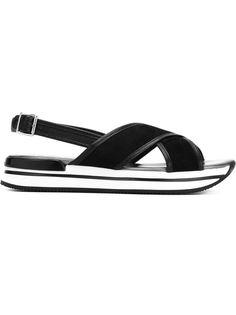 сандалии с перекрещивающимися ремешками   Hogan