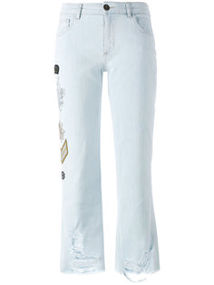 embellished multi-patch jeans Mr & Mrs Italy