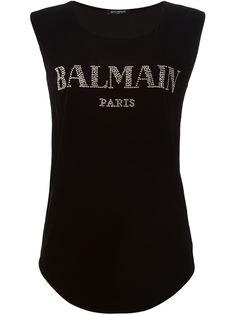 майка с логотипом Balmain
