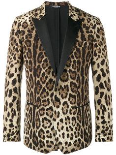 блейзер с леопардовым принтом Dolce & Gabbana