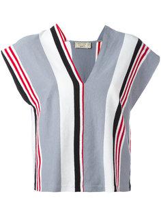 полосатая блузка с V-образным вырезом Maison Kitsuné
